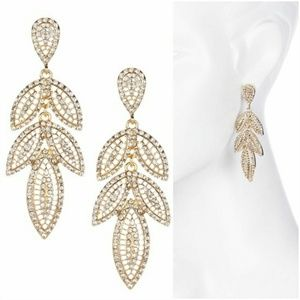 NWT Crystal Embellished Drop Earrings